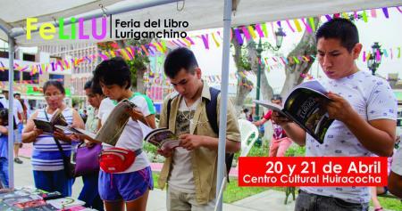 Feria del Libro Luriganchino en el Parque Huiracocha