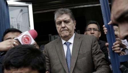 Alan García: Ordenan detención preliminar contra ex mandatario