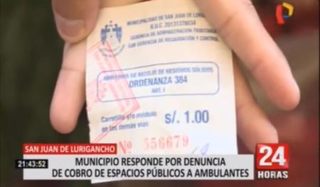 Más de mil quinientos ambulantes informales pagan diario un sol