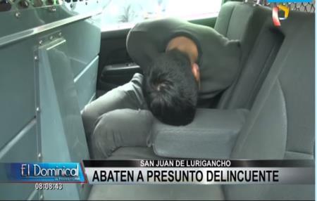 Raquetero fue abatido tras persecución policial