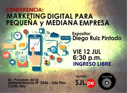 Conferencia gratuita de marketing digital para pyme en SJL