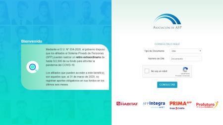 Habilitan web para consultar si calificas al retiro de 2000 soles de la AFP