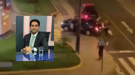 Insulta y cholea a Policias desde su balcon en San Isidro