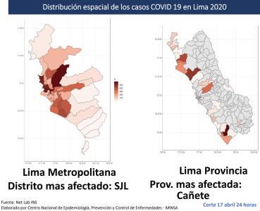 San  Juan de Lurigancho es el distrito con mayor numero de infectados por Coronavirus