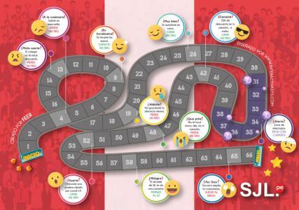 Recorre el nuevo juego de mesa: -Circuito Covid SJL- en familia