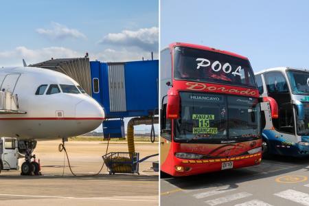 Estas son las medidas que deberán tener en cuenta los pasajeros de aviones y buses.