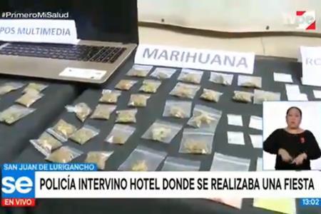 Policía intervino hostal donde se realizaba fiestas clandestinas