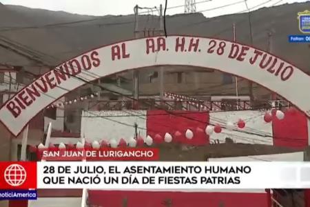 Campoy: Asentamiento humano 28 de Julio se vistió de rojo y blanco