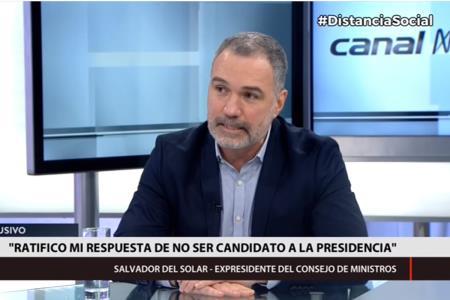 Salvador del Solar descarta postular a la Presidencia el 2021