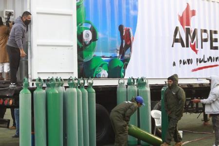 Planta de oxígeno móvil de AMPE estará en San Juan de Lurigancho