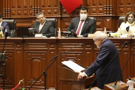 Congreso le negó la confianza al Gabinete de Pedro Cateriano