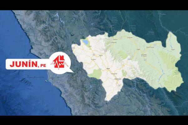 Sismo de magnitud 4.9 remeció Junín
