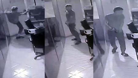 Captan a delincuente orinando dentro de consultorio dental antes de robo