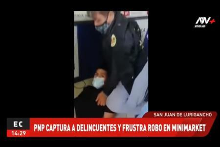 PNP capturó a delincuente y frustra robo a minimarket en Mariscal Cáceres