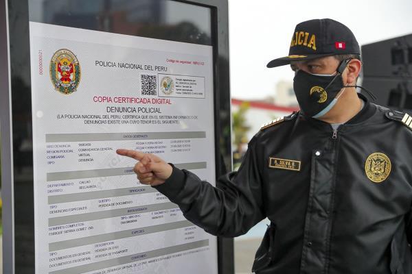 PNP lanza plataforma virtual para reportar denuncias policiales