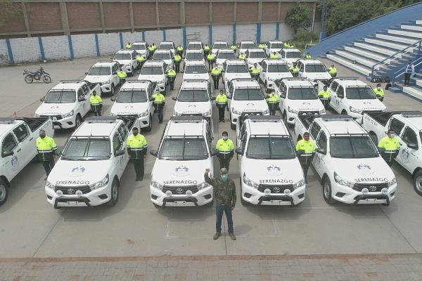 La Municipalidad de SJL presenta nueva flota de vehículos para serenazgo