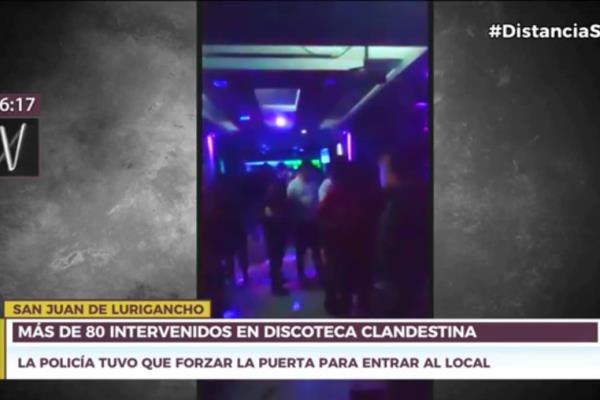 Más de 80 detenidos dejó intervención en discoteca