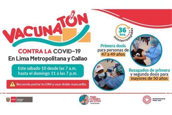 Vacunatón: Los 21 locales en Lima y Callao a donde puedes acudir a vacunarte