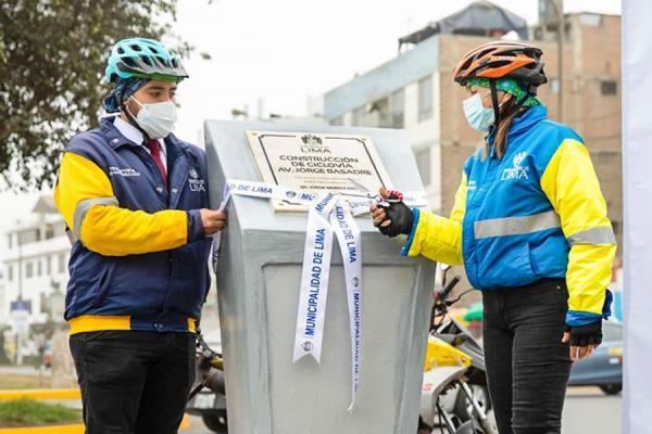 MML inaugura nueva ciclovía en el distrito de San Juan de Lurigancho