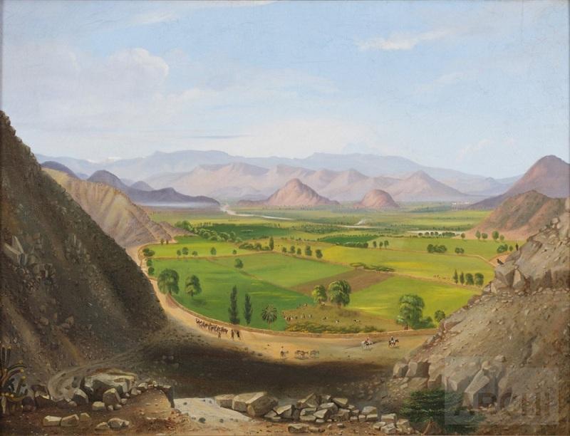 Impresionante cuadro de Cyrenius Hall, 1861
