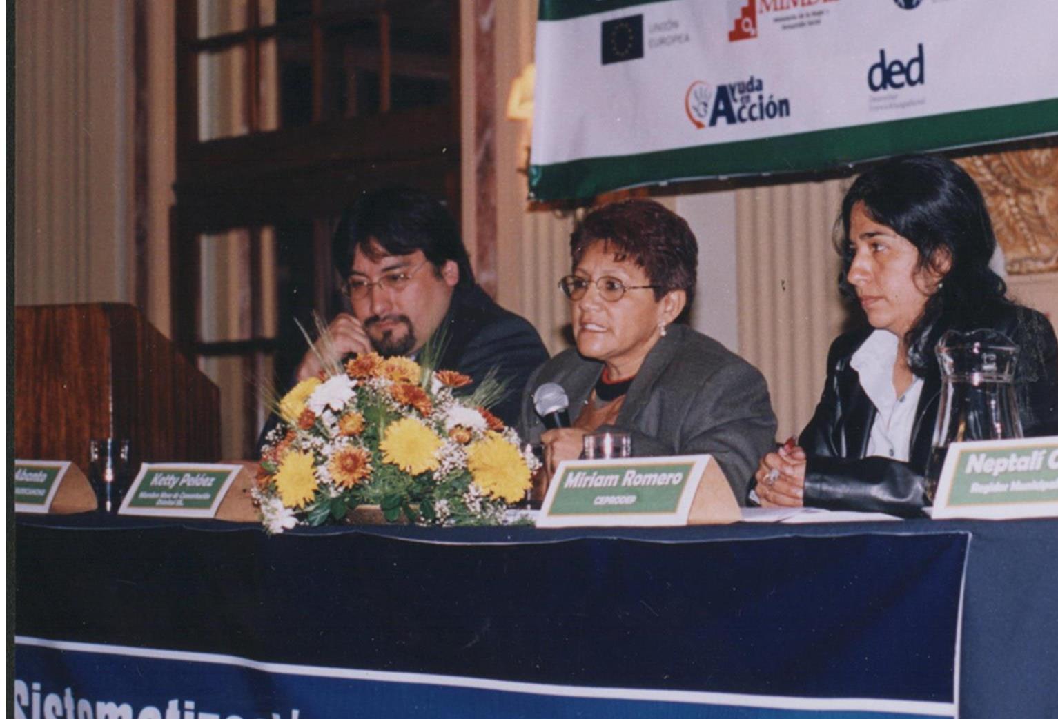 Ketty Pelaez, el día de la presentación del Libro sobre los procesos concertados de participación ciudadana