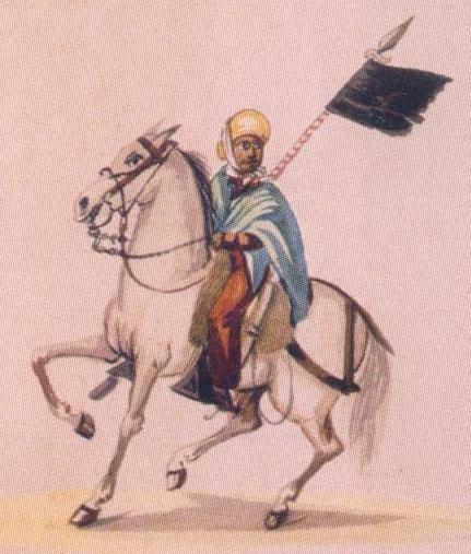 Imagen de un montonero según Pancho Fierro