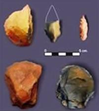 Armas líticas encontradas en la quebrada de Lurigancho
